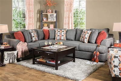 Pennington Gray Fabric Sectional
