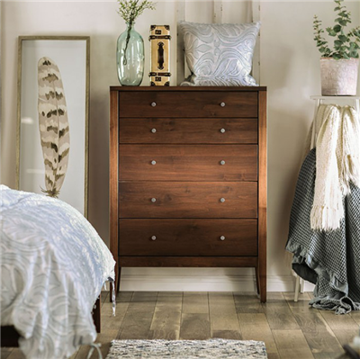 Williamette I Solid Wood 5-Drawer Chest