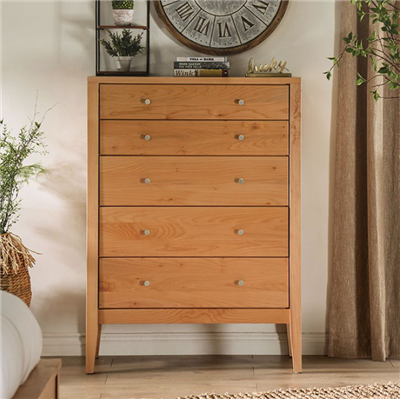Williamette II Solid Wood 5-Drawer Chest