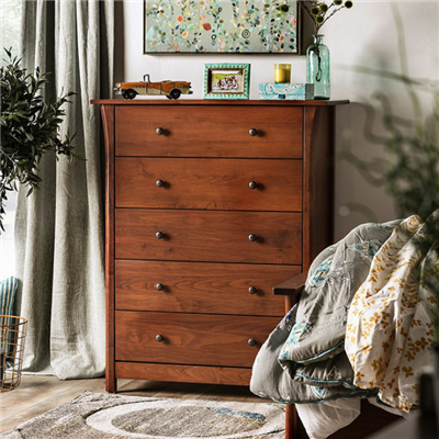 Keizer Solid Wood 5-Drawer Chest