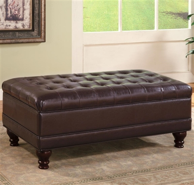 Leatherette Tufted Storage Ottoman by Coaster 501041