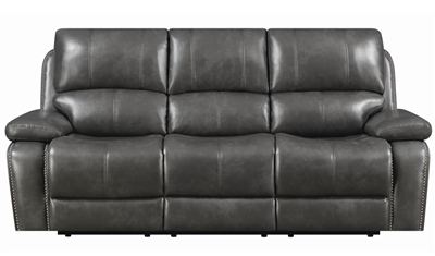 Charcoal Grey Manual Reclining Sofa