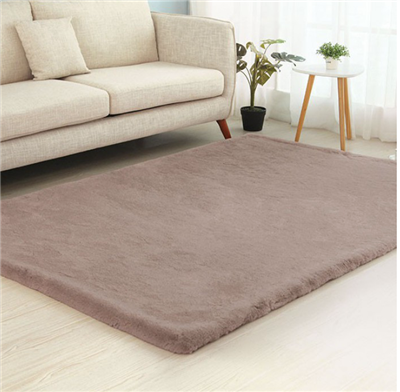 Caparica Faux Chinchilla Area Rug in Blush