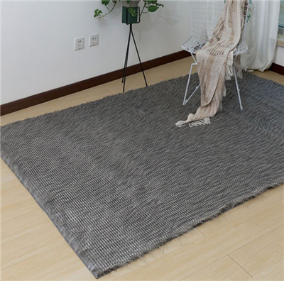 Caparica Faux Chinchilla Area Rug in Feather