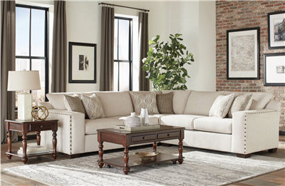 Rayna Plush Chenille Upholstered Sectional