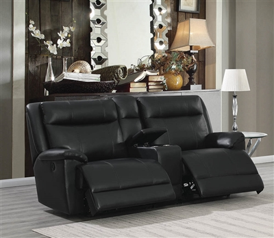 Tatum II Black Power Reclining Loveseat w/ Gel Memory Foam