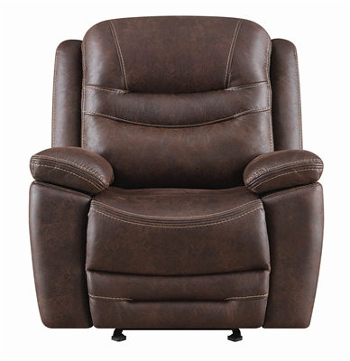Chocolate Brown Coated Microfiber Power Reclining Chair