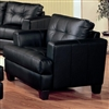 Manuel Contemporary Black Leatherette Chair