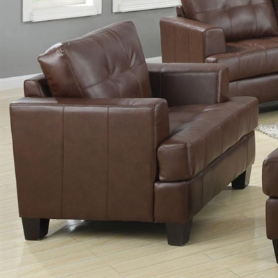 Brown Leatherette Chair