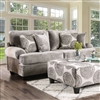 Ultra Plush Gray Microfiber Sofa