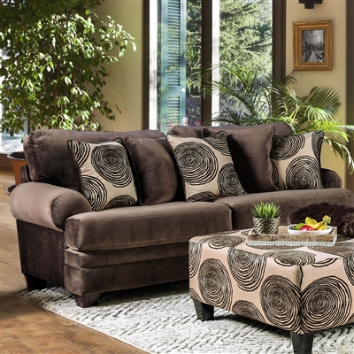 Ultra Plush Brown Microfiber Sofa Group