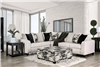 Ivory Upholstered Sectional with Stain Resistant Fabric