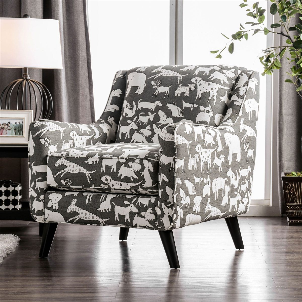 Patricia Animal Print Accent Chair
