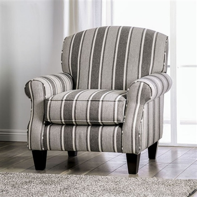 Ames Striped Accent Chair - FOA SM8250-CH-ST
