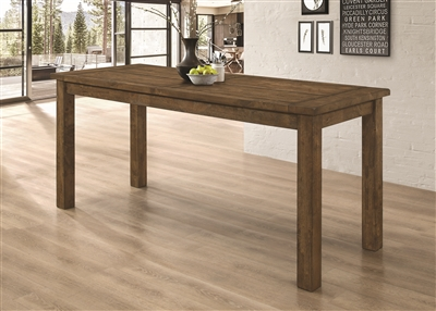 Holloway Rustic Golden Brown Finish Solid Wood Counter Height Table