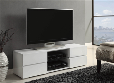 Harp Contemporary High Gloss TV Console