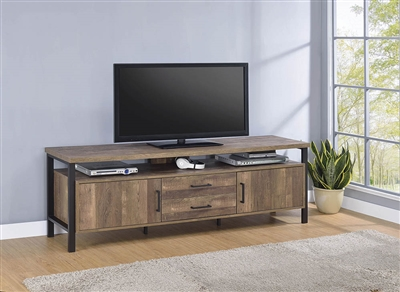 "Leo 71"" Rustic Oak Tv Console"