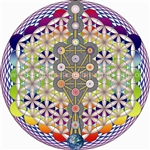 TREE OF LIFE, FLASHING RAINBOW SEED OF LIFE, FRUIT OF LIFE AND FLOWER OF LIFE- SUBTLE ENERGY MANDALA- SUBTLE ENERGY MANDALA