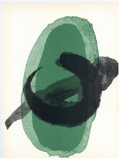 "Joan Miro ""Green"" original lithograph, 1961"