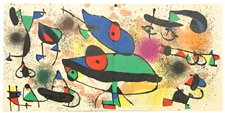 "Joan Miro ""Sculptures II"" original lithograph, 1974"