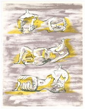 "Henry Moore original lithograph ""Figures Allonges"""