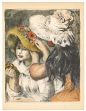 "Pierre-Auguste Renoir lithograph ""Chapeau epingle"""