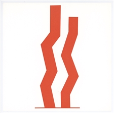 "William Turnbull silkscreen ""Double Red"""