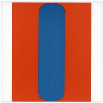 "Ellsworth Kelly silkscreen ""Red-Blue"" 1967"