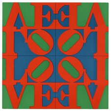 "Robert Indiana silkscreen ""Love Wall"" 1967"