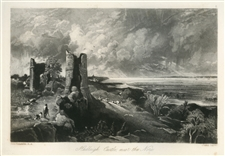 "Sir John Constable / David Lucas mezzotint ""Hadleigh Castle"""
