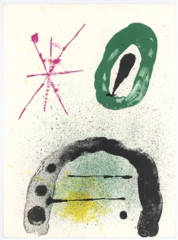 Joan Miro original lithograph (Composition IV), 1963