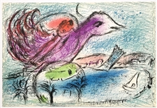"Marc Chagall ""The Bay"" original lithograph"