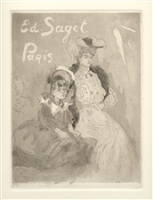 "Jacques Villon ""Carte Adresse Sagot"" original aquatint"