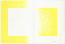 "Richard Anuszkiewicz original lithograph ""Yellow Reversed"""