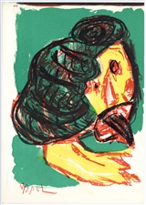 Karel Appel original lithograph