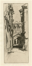 "David Young Cameron original etching ""In Stirling Castle"""
