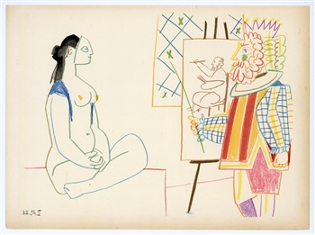 Pablo Picasso lithograph (In the Studio)