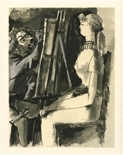 Pablo Picasso lithograph (Artist and Model)