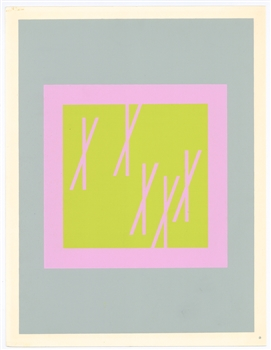 Josef Albers silkscreen Interaction of Color, 1963