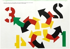 "Robert Indiana original lithograph ""Four Winds"""
