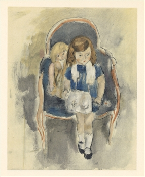 "Jules Pascin lithograph ""Jeanie Warnod"""