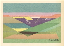 "Jacques Villon lithograph ""Le Grands Fonds"""