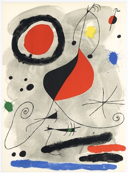 "Joan Miro ""L'Arc"" original lithograph, 1964"