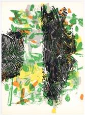 Jean-Paul Riopelle original lithograph, 1968