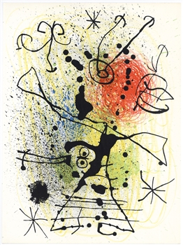 Joan Miro original lithograph, 1967