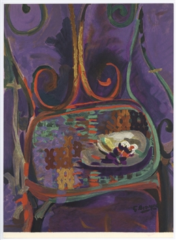 "Georges Braque lithograph ""La Chaise"""