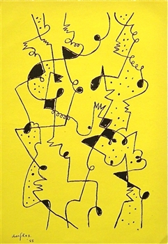 Gillo Dorfles original lithograph | Movimento Arte Concreta