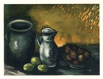 "Maurice de Vlaminck ""Still Life with Jugs"" lithograph"