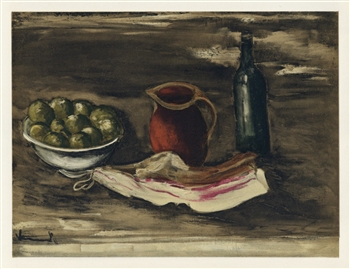 "Maurice de Vlaminck ""Still Life with Bacon"" lithograph"