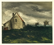 "Maurice de Vlaminck ""The House on the Plain"" lithograph"